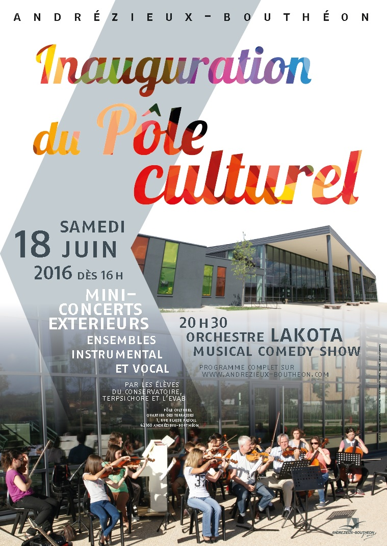 Participation de l'Ensemble Vocal à l'Inauguration du Pôle Culturel 2016-06-18