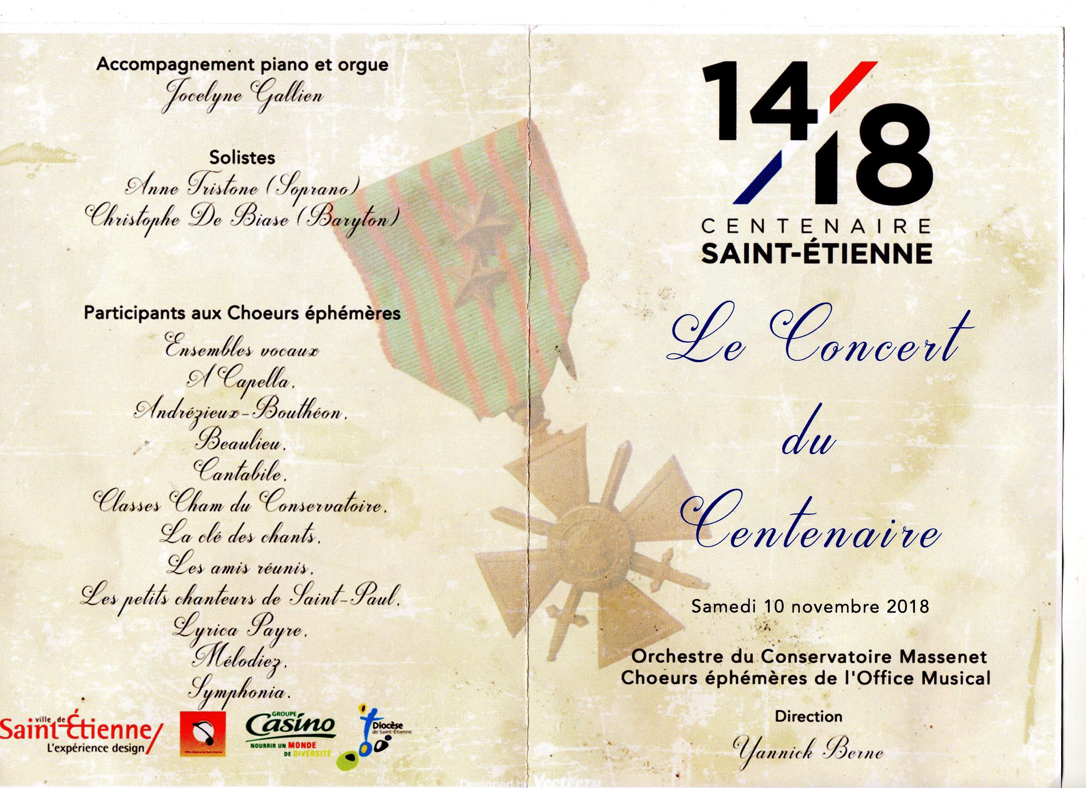 Cathédrale pleine pour voir et écouter ce concert du 10 novembre 2018